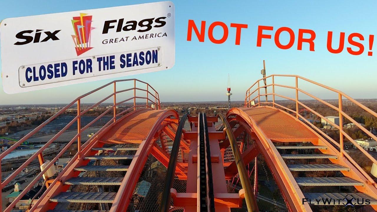 Dji Phantom 2 >> Free ride at the Six Flags Great America theme park ...
