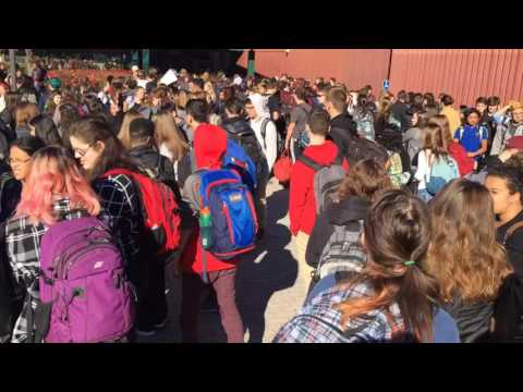 Amherst-Pelham Regional High School walk-out  begins