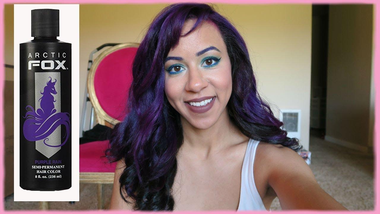 3dd10e80794d17 Arctic Fox Purple Rain Review | Bleaching & Dying My Hair Purple ...