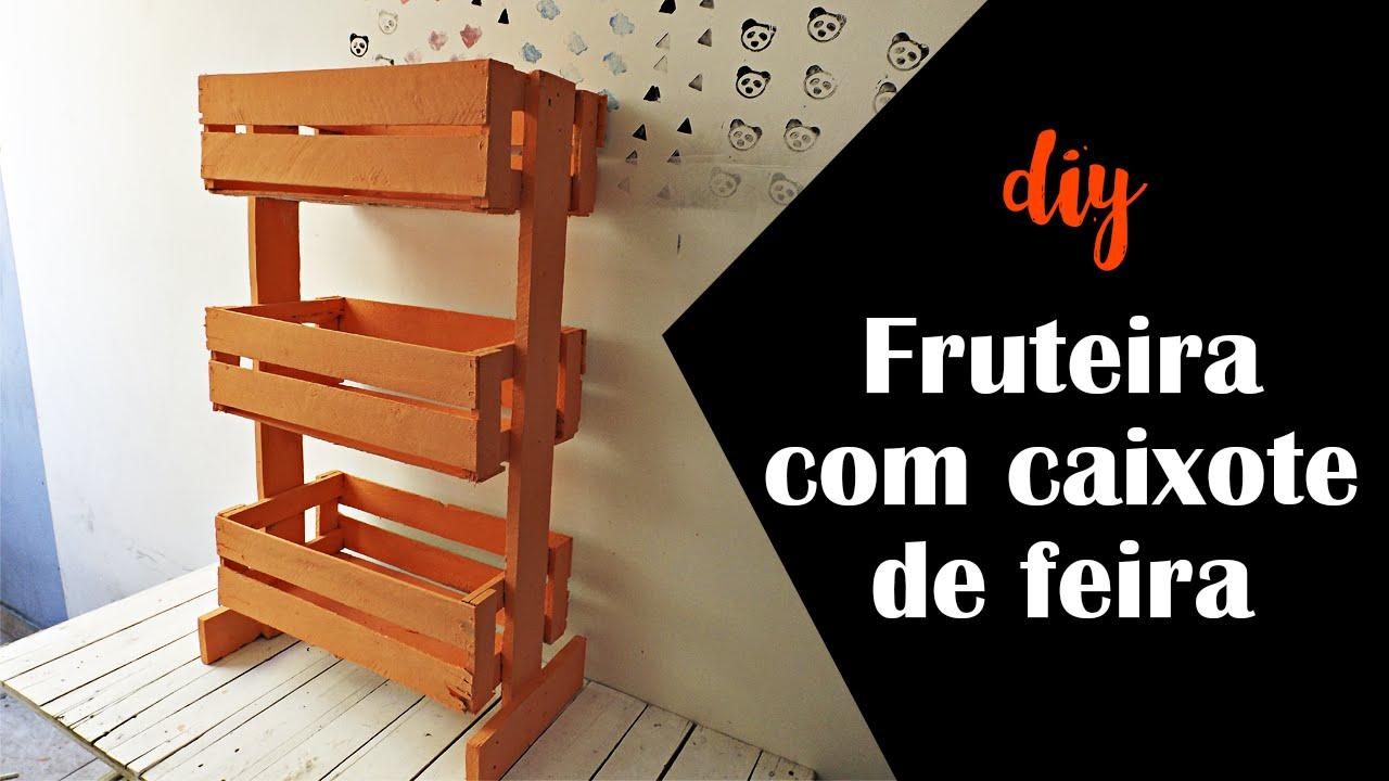Conhecido DIY Fruteira com caixote de feira :: Parceria Decorando e  XN96