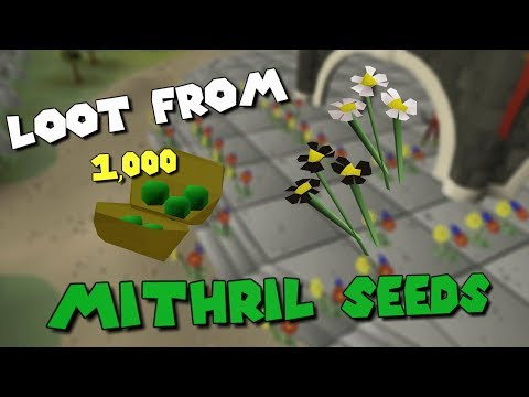 Loot From Planting 1,000 Mithril Seeds