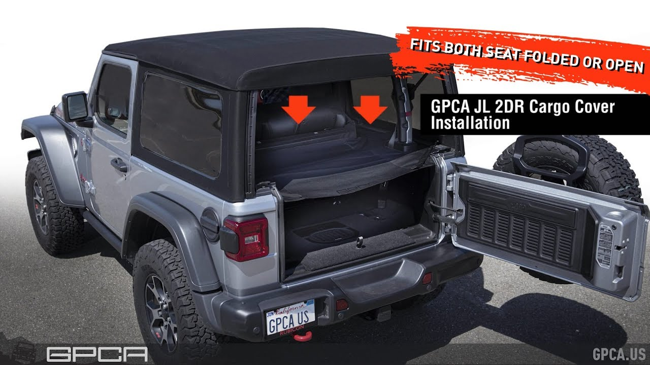 Gpca Jeep Wrangler Jl 2dr Cargo Cover Gpca