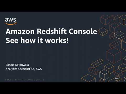Amazon Redshift Console - See How It Works!   Amazon Web Services