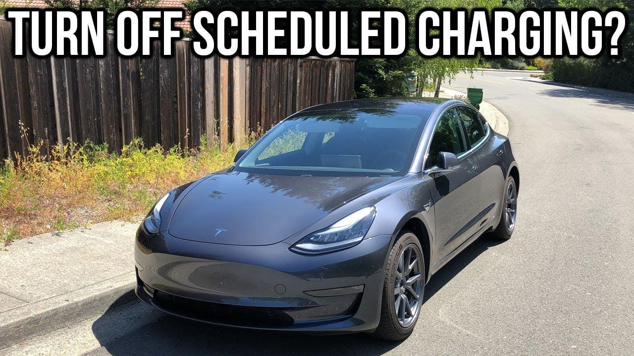 Tesla Model 3 Turn Off Scheduled Charging? - YouTube
