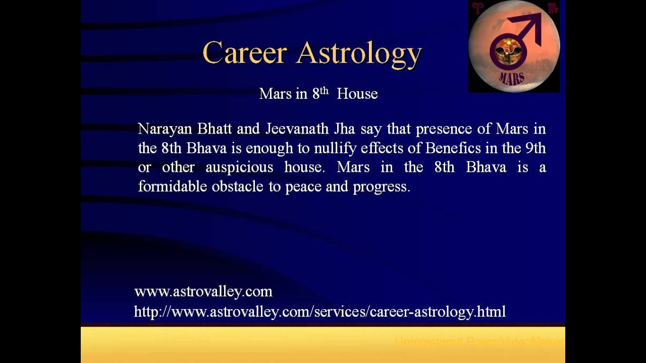 Career astrology: Mars in 8th House