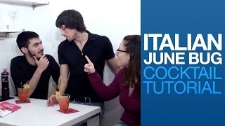 Italian June Bug Cocktail Tutorial | Drink Corner