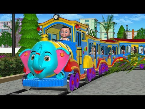 Wheels On The Train Go Round And Round - 3D Kids' Songs & Nursery Rhymes for children