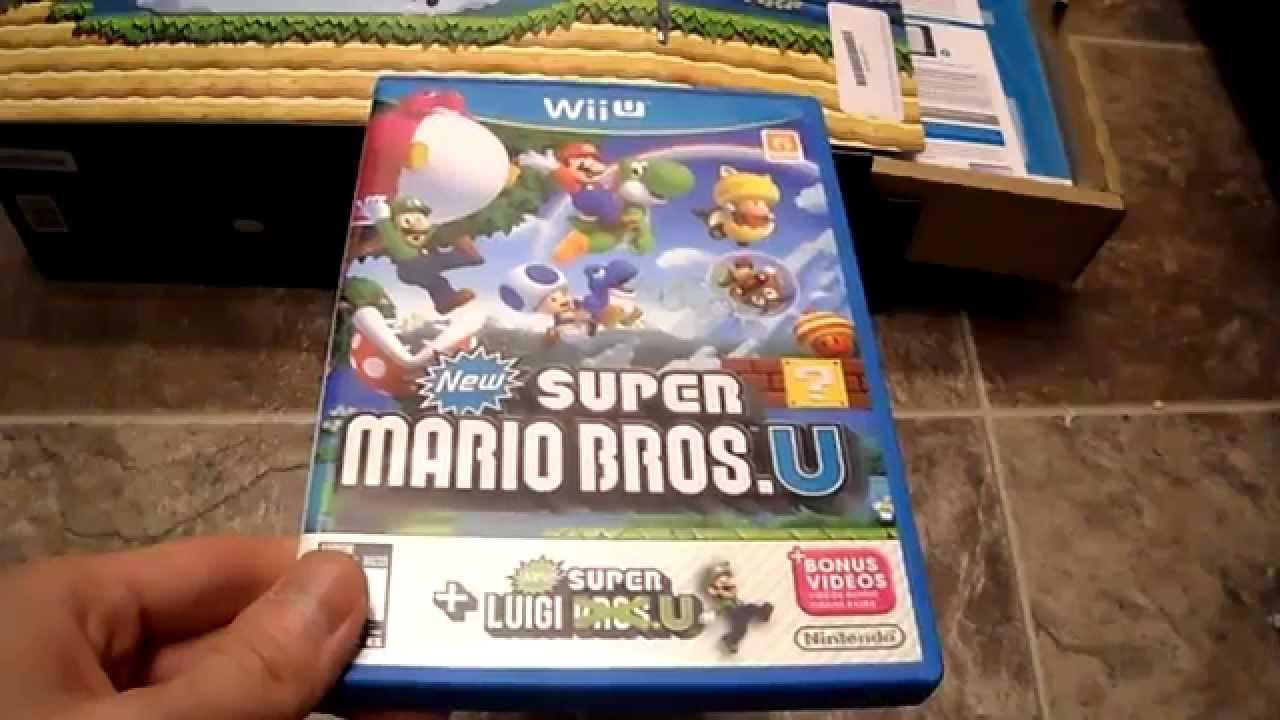 Unboxing New Super Mario Bros U Luigi U Bonus Physical Disc