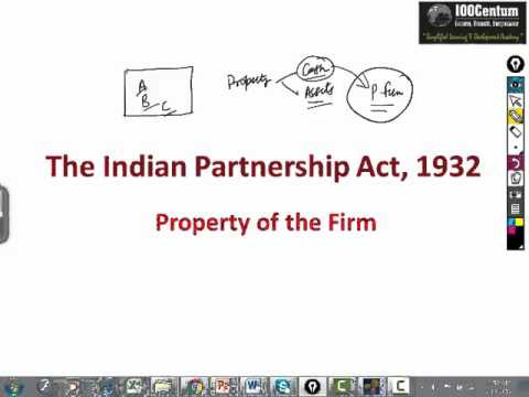 Indian Partnership Act 1932 - Part 6 - Property of the Firm for CA-CPT (in Hindi)