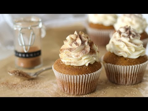Spiced Pumpkin Cupcakes Recipe With Cream Cheese Frosting