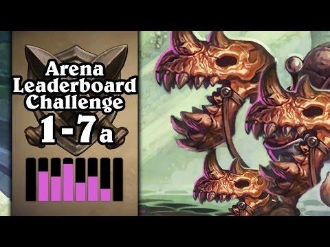 Hearthstone: Arena Leaderboard Challenge 1-7 - The Skeletal Trio's Journey - Part 1 (Rogue Arena)