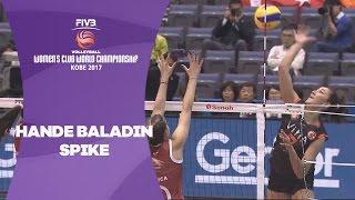 Confident spike from Hande Baladin - Women's Club World Championship 2017 Kobe