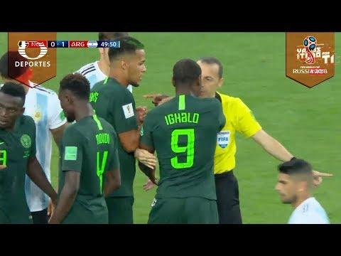 El partido se pone bravo | Nigeria vs Argentina | Mundial Rusia 2018
