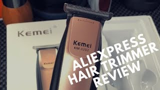 Kemei KM-3202 Hair Trimmer Unboxing and Review 2018 | AliExpress Cordless Hair Trimmer From China
