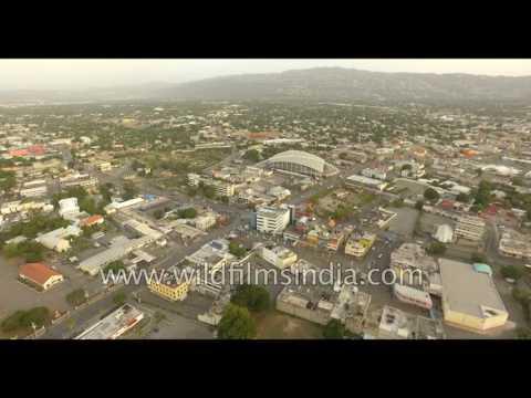 Jamaica, a Caribbean island nation: 4K aerial footage