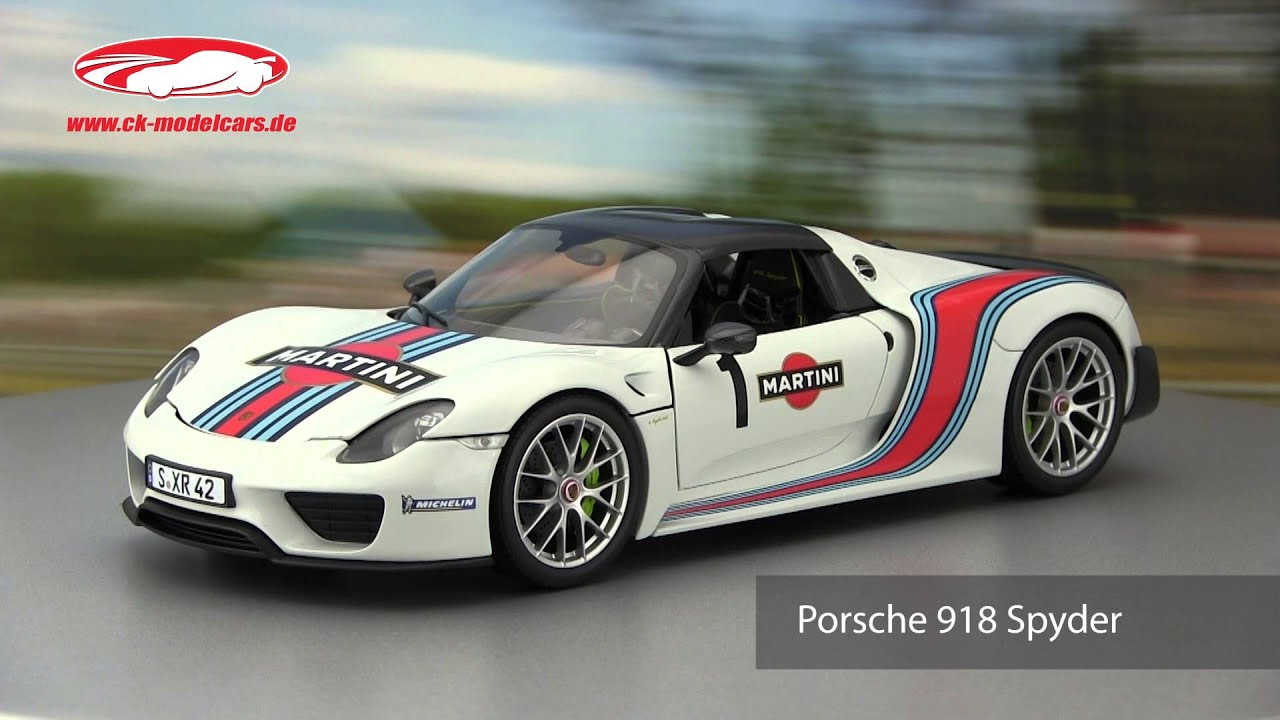 ck modelcars video porsche 918 spyder baujahr 2013 weissach package martini. Black Bedroom Furniture Sets. Home Design Ideas