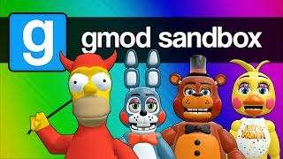 Five Nights at Freddy's 2, 3, and 4 with Homer Simpson (Gmod Sandbox Funny Moments) thumbnail