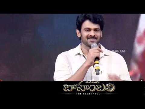 Prabhas Entry On Stage & Best Technician - Baahubali - Audio Launch Live