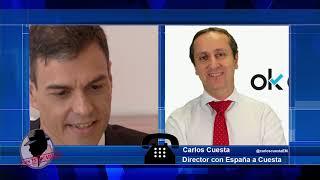 """CARLOS CUESTA: """"La gente ha acabado cansada de la aberración del gobierno de Sánchez"""""""
