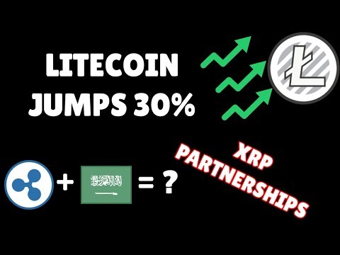 Ripple (XRP) Partnership with Saudi Arabia? Litecoin (LTC) jumps 30%, why? JPMorgan brings BTC ETF?