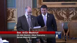 Sen. Meekhof speaks in support of Chaldean American Day