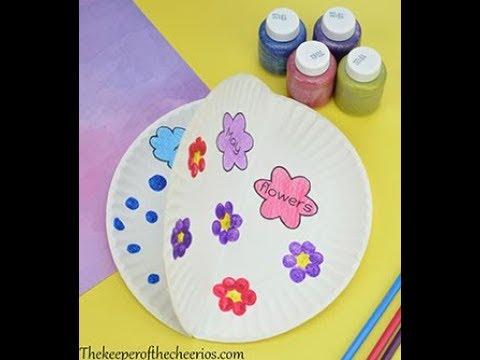 April Shower Paper Plate Kids Craft