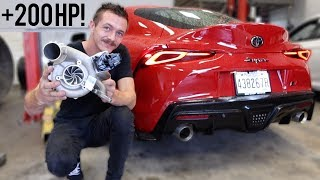 2020 Supra Gets a Bigger Turbo! (Install/Tune)