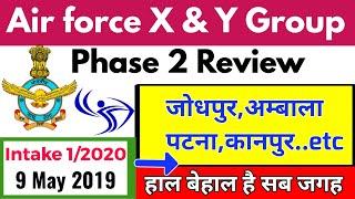 Air force x and y group, Phase 2 Review, 9 May 2019, Ambala, Jodhpur, Patna,..??