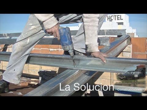 Perfil c para techos youtube - Como colocar pladur en techo ...