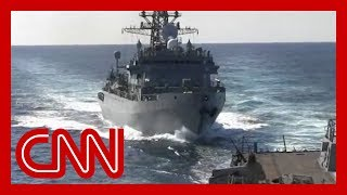 See Russian warship's 'aggressive' move near US ship