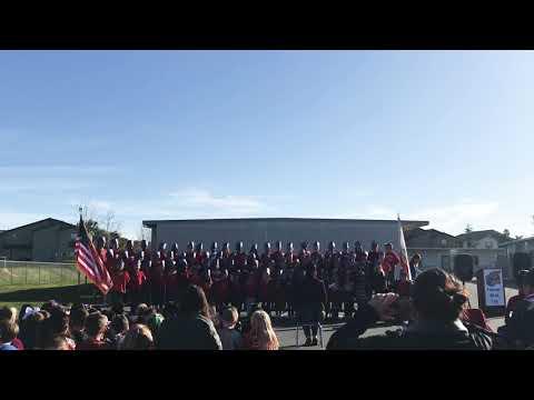 Patriotic performance North Terrace elementary school feb 2020