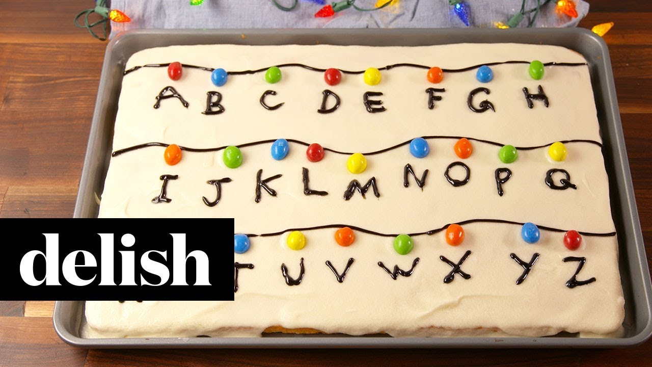 How To Make A Stranger Things Sheet Cake Recipe Delish Youtube