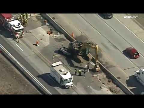 News Chopper 12 above Racine County construction crash, closure