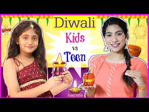 KIDS Vs TEEN - DIWALI FESTIVAL ..   #SuperDiwaliSale #ClubFactory #Sketch #Fun #Anaysa #MyMissAnand