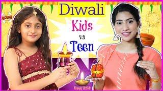 KIDS vs TEEN - DIWALI FESTIVAL .. | #SuperDiwaliSale #ClubFactory #Sketch #Fun #Anaysa #MyMissAnand