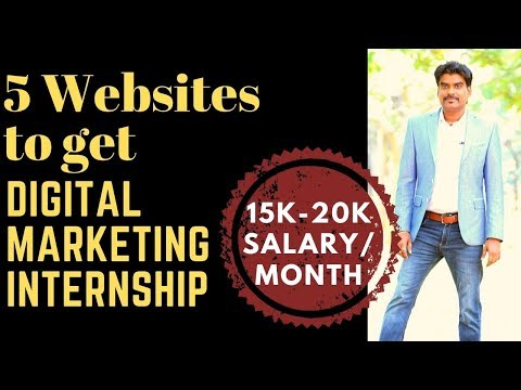 Top 5 Websites to Crack Digital Marketing Internship, Jobs | Digital Marketing Career & Courses