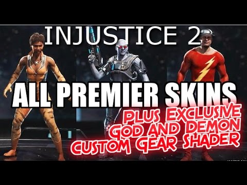 Injustice 2 | All Premier Skins | Gods and Demons Skins | Ultimate Edition | PS4