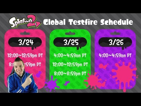 Splatoon 2 - Global Testfire Download, Schedule, Times, & Livestreaming Update!