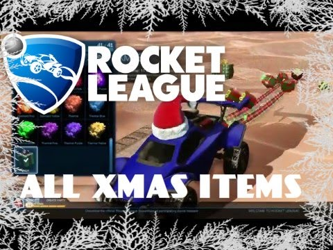 Rocket League//ALL CHRISTMAS ITEMS//FREE SNOW DAY DLC//HOCKEY MODE ...