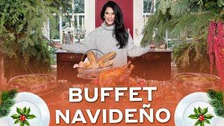 Buffet navideño🍴❄️   Martha Debayle