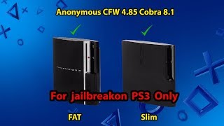 Anonymous CFW 4.85 Cobra 8.20 🙏