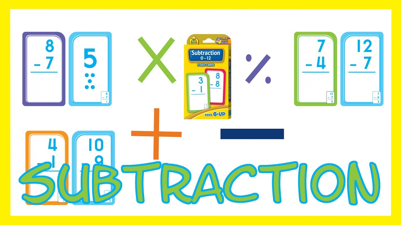 worksheet Subtraction Flash Cards subtraction flash cards by school zone szp04007 youtube szp04007