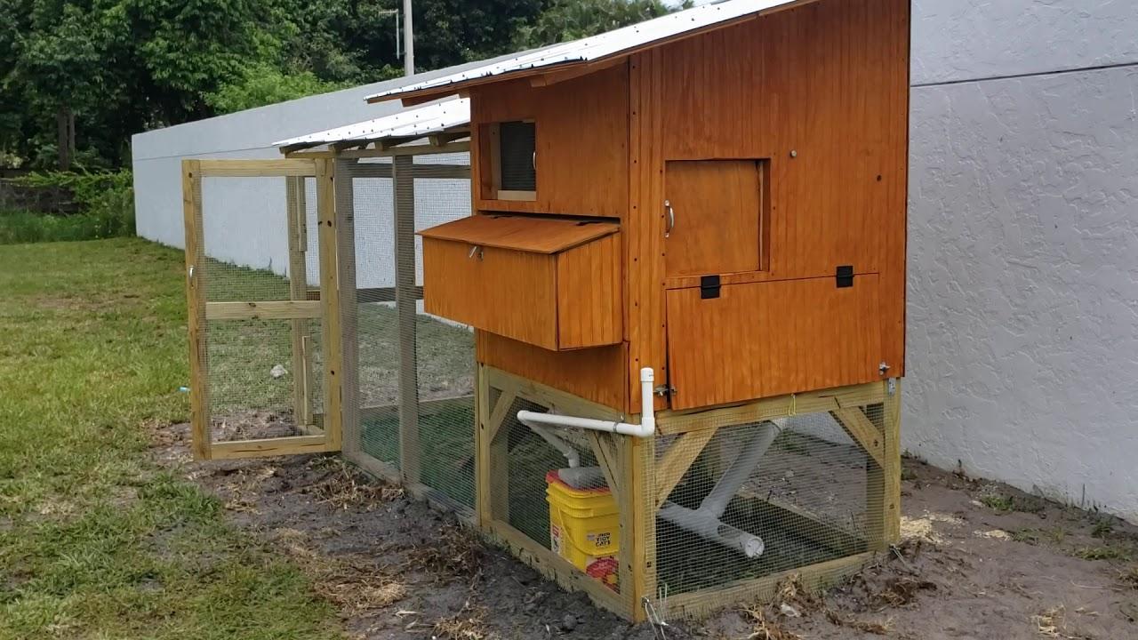 DIY Backyard chicken coop and run - YouTube