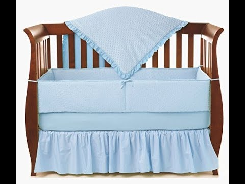 American Baby Company Heavenly Soft Minky Dot 4-piece Crib