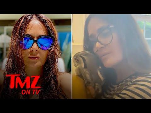 Salma Hayek Snuggles Up To Her Pet Owl | TMZ TV
