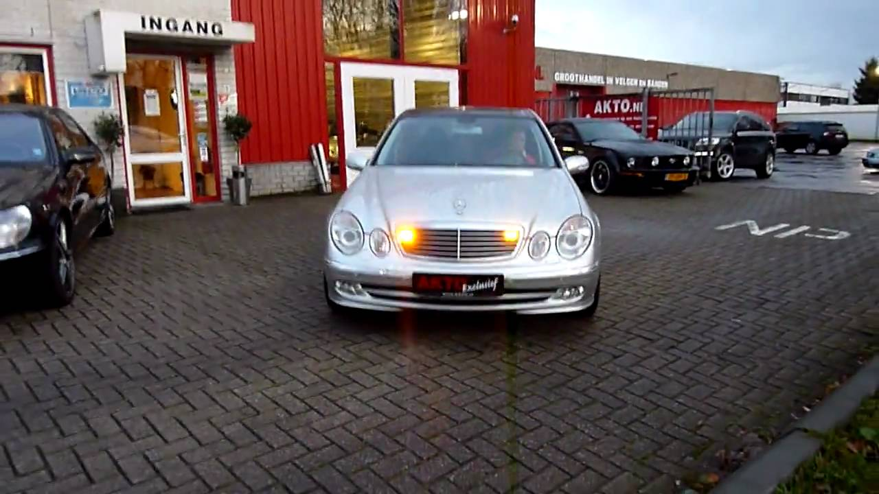 led oranje flits lampen weggebouwd mercedes e klasse youtube