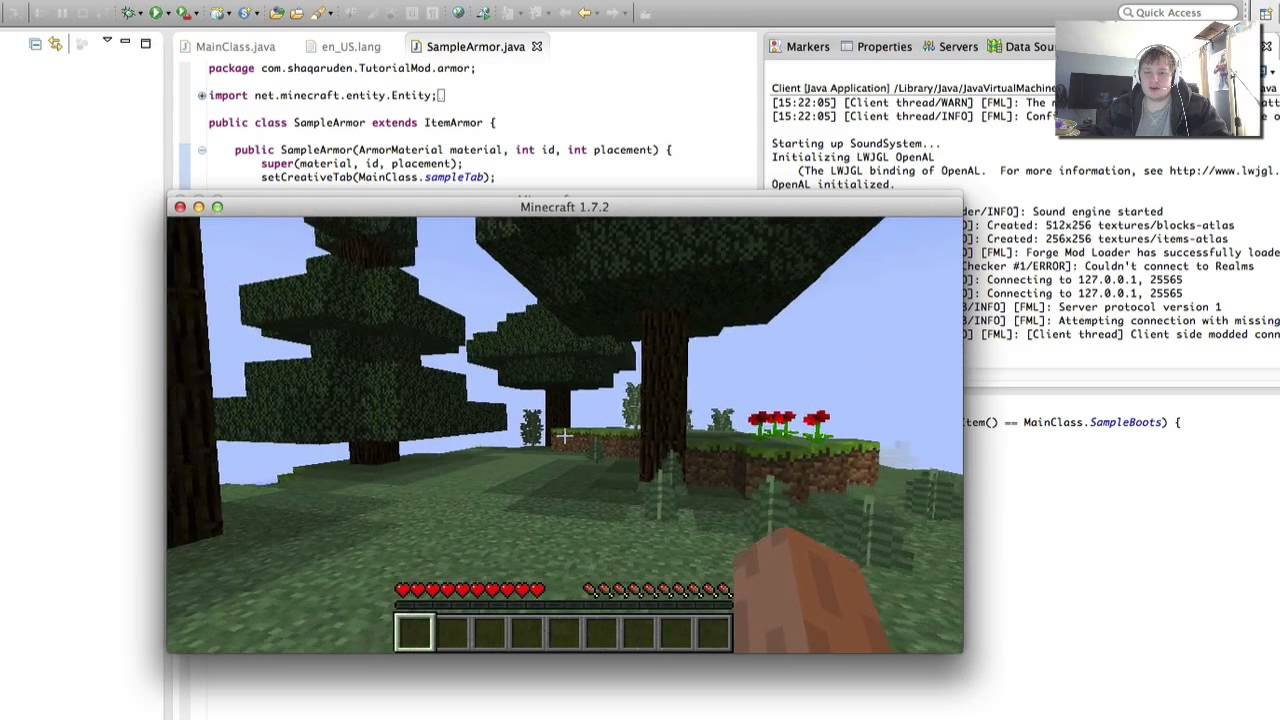 Minecraft Forge 1 7 2 -Armor on the Server & Server Login FIX