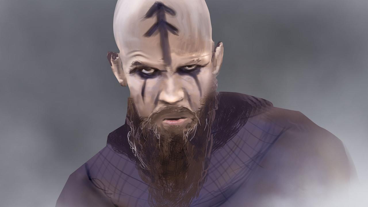 Digital Art Tutorial 1 Floki From Vikings Youtube