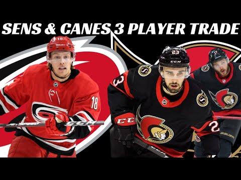 NHL Trade - Ottawa & Carolina Complete 3 Player Trade