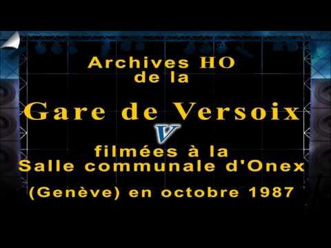 Trains HO Gare de Versoix état 1987 - expo de Onex - Genève 1987 - 5